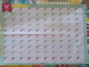 Calendario 100 días cuenta atrás