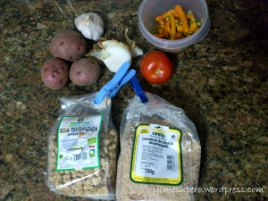 Ingredientes estofado de soja
