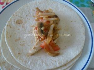 Rollitos de pollo a la barbacoa con verduras