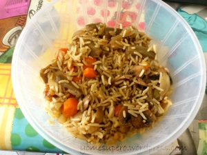 Verduritas con arroz basmati